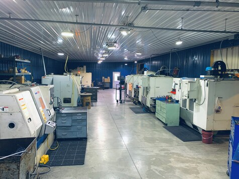 Picture of Precision of New Hampton's plant which is CNC driven.